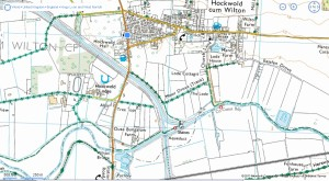 large scale Ordnance Survey map with marks