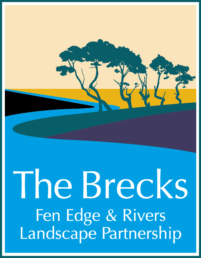 Logo with stylised river and pines