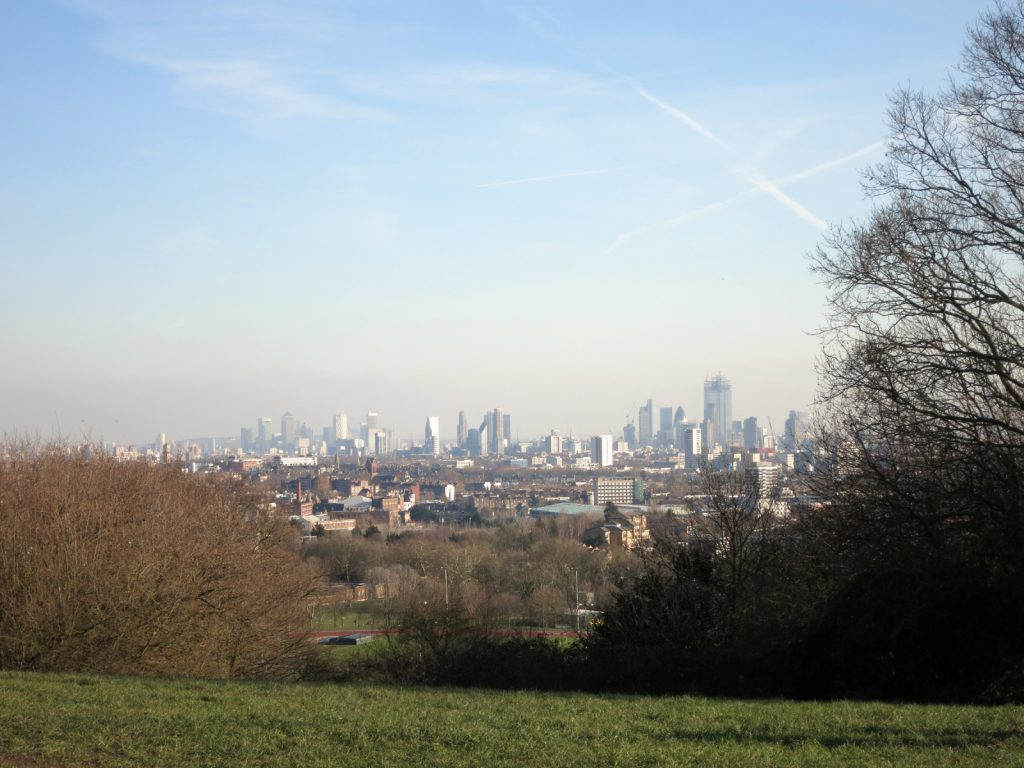 distant view of london buildings