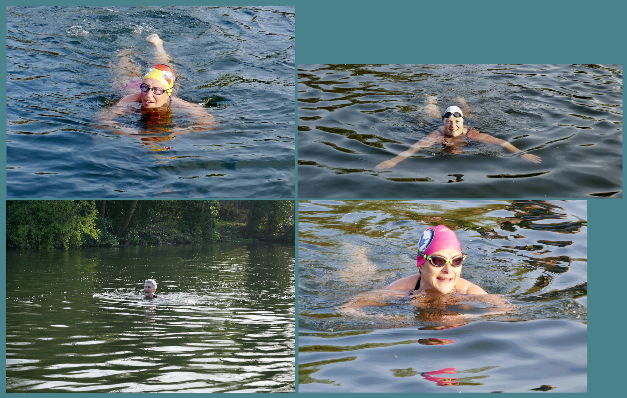 swimmers in water