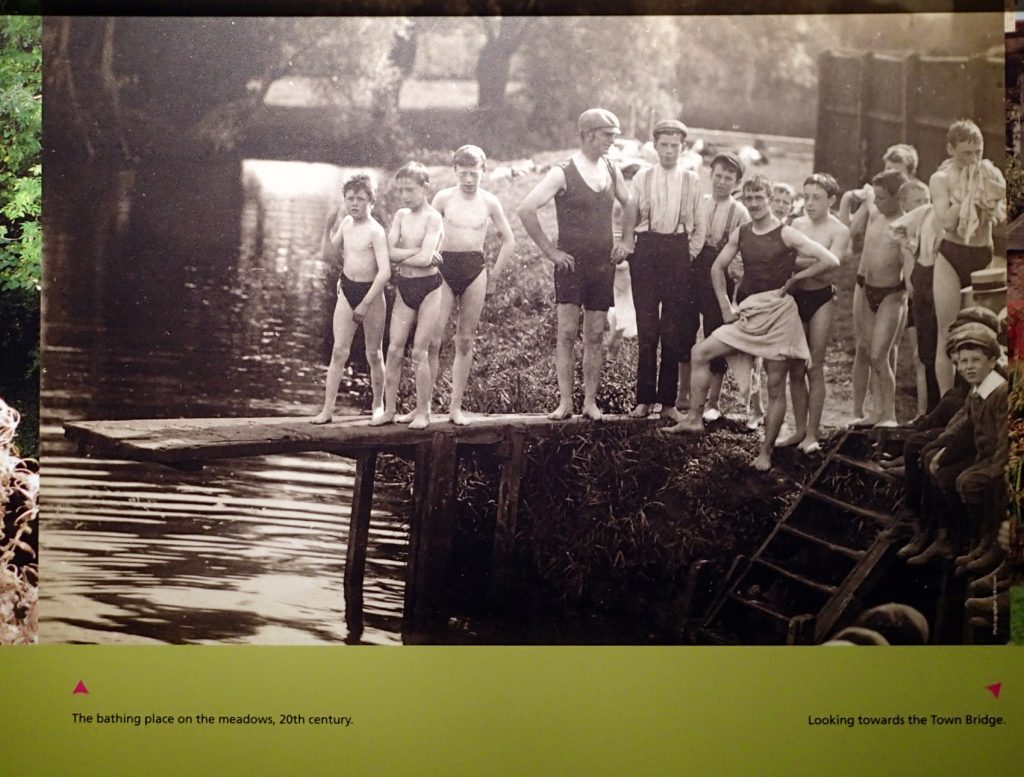 old photo of swimmers lined up