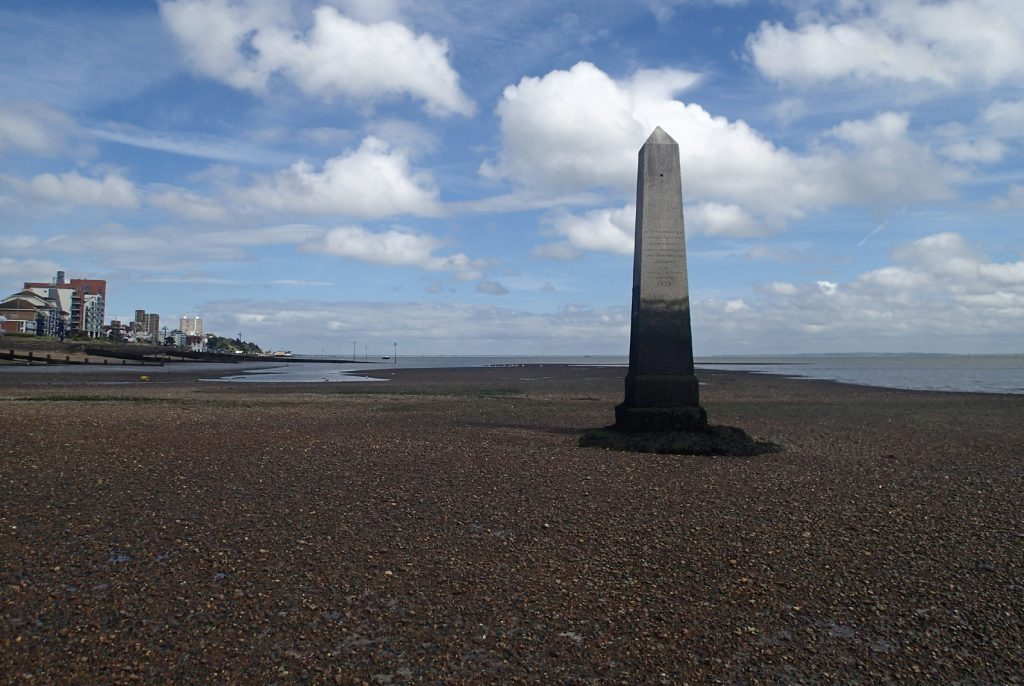 monument on beach