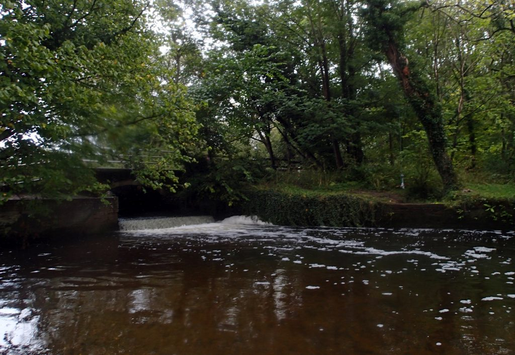 a weir in the river