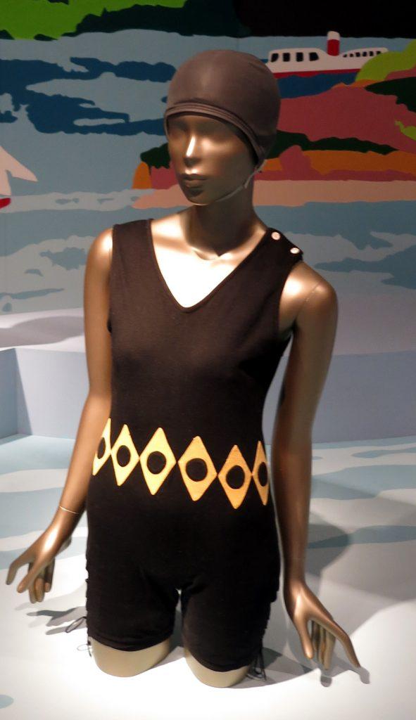 female model wearing knee length costume