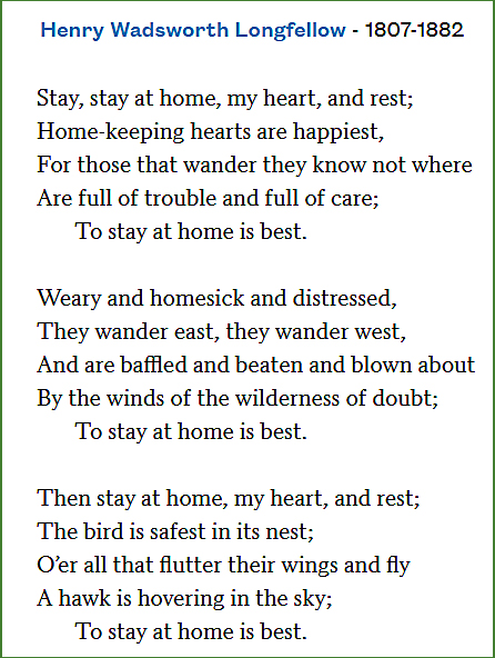 Stay at home poem