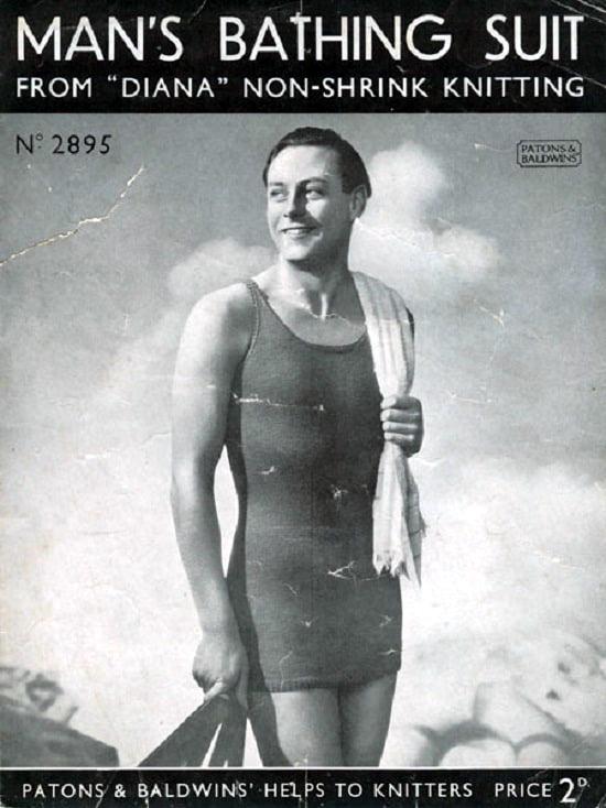 male model wearing long one piece costume