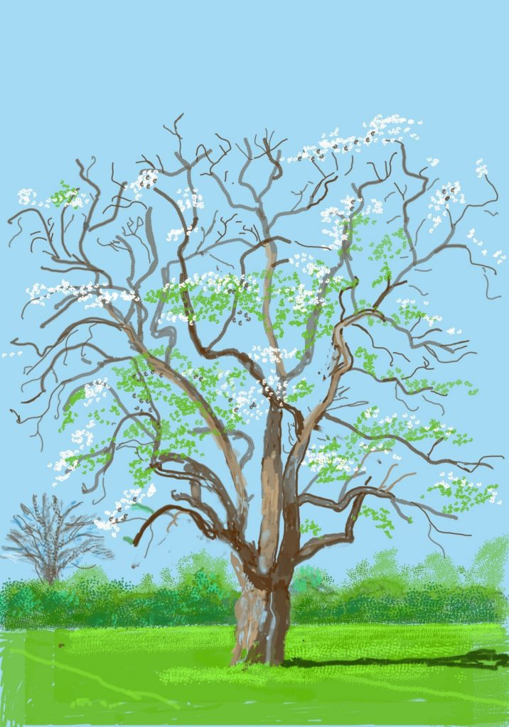 painting of spring tree