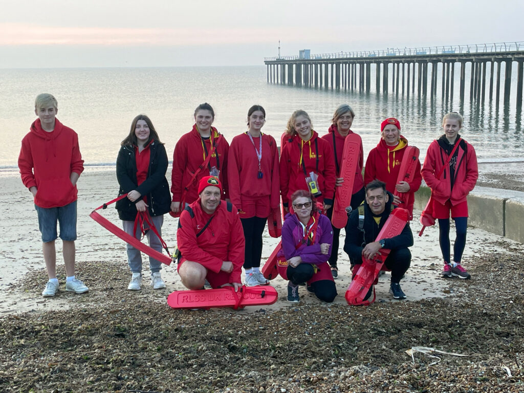 lifeguards and pier